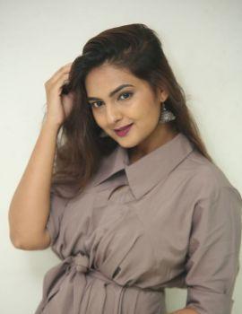Neha Deshpande Stills at Anuvamshikatha Movie Trailer Launch