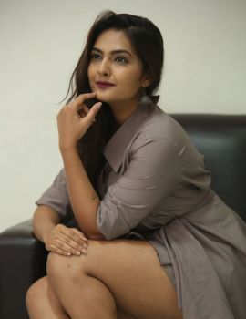 Neha Deshpande Stills at Anuvamshikatha Movie Trailer Launch