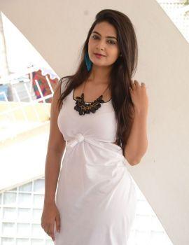 Telugu Actress Neha Deshpande Photos in White Dress