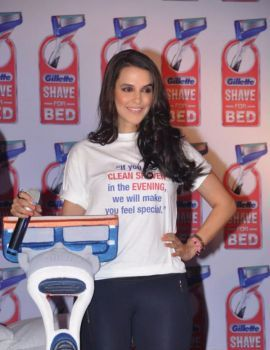 Neha Dhupia Stills at Gillette Shave or Crave Event
