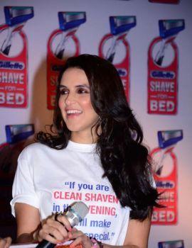 Neha Dhupia Stills at Gillette Shave or Crave Event