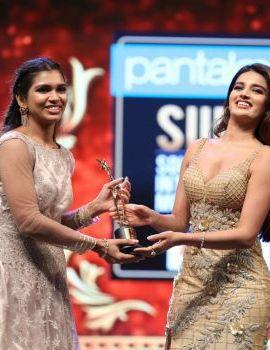 Actress Nidhhi Agerwal Stills At Siima Awards 2019