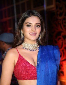 Actress Nidhhi Agerwal Stills at Zee Kutumbam Awards