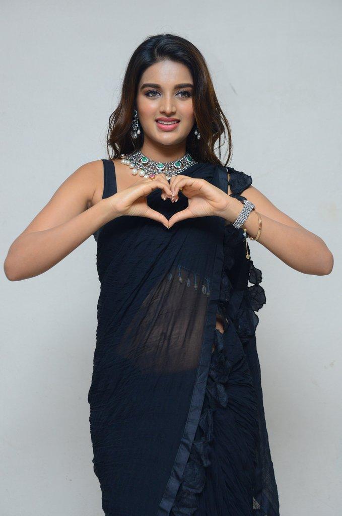 Nidhhi Agerwal In Saree At Manepally Jewellery Inauguration 💖