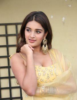 Nidhhi Agerwal Stills at Galla Ashok Debut Movie Launch
