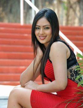 Actress Nikesha Patel Red Dress Photoshoot Stills