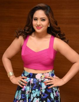 Nikesha Patel at Araku Road Lo Logo Launch
