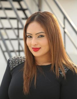 Nikesha Patel Stills from Araku Road Lo Movie Interview