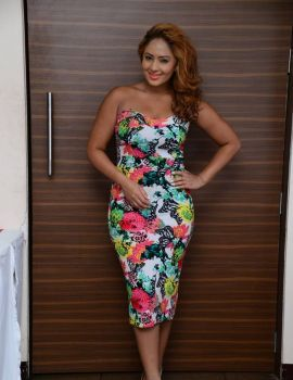 Nikesha Patel Stills in Floral Dress
