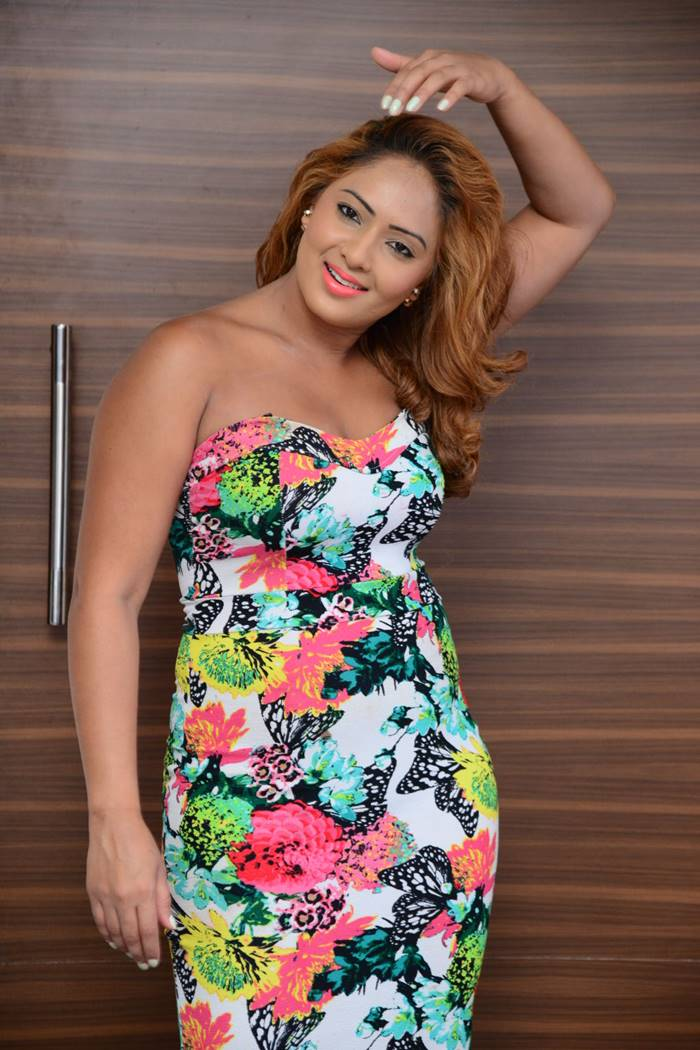 Nikesha Patel Stills in Floral Dress