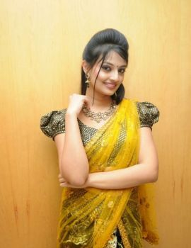 Nikitha Narayan Photos in Saree at Varna Audio Launch
