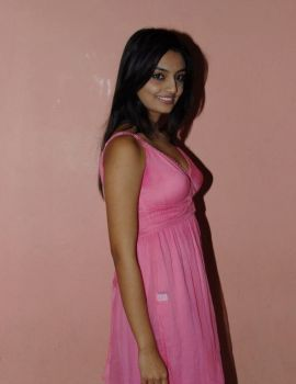 Telugu Actress Nikitha Narayan at its My Love Story Movie Special Show