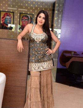 Telugu Actress Nikki Tamboli at Kanchana 3 Movie Success Meet