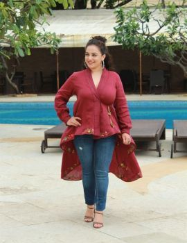 Nithya Menen at Mission Mangal Movie Media Interactions