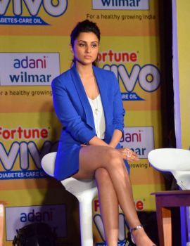 Bollywood actress Parineeti Chopra at the Vivo Diabetes Care launch event in Mumbai
