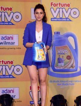 Bollywood actress Parineeti Chopra at the Vivo Diabetes Care launch event in Mumbai