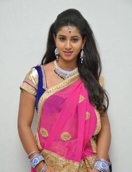 Pavani in Saree at Eluka Majaka Audio Launch