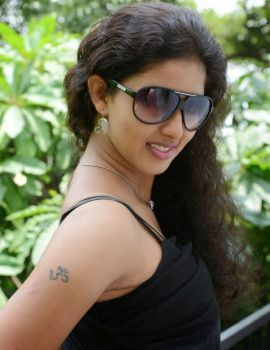 Pavani Photos in Black Dress at KKMK Movie Launch