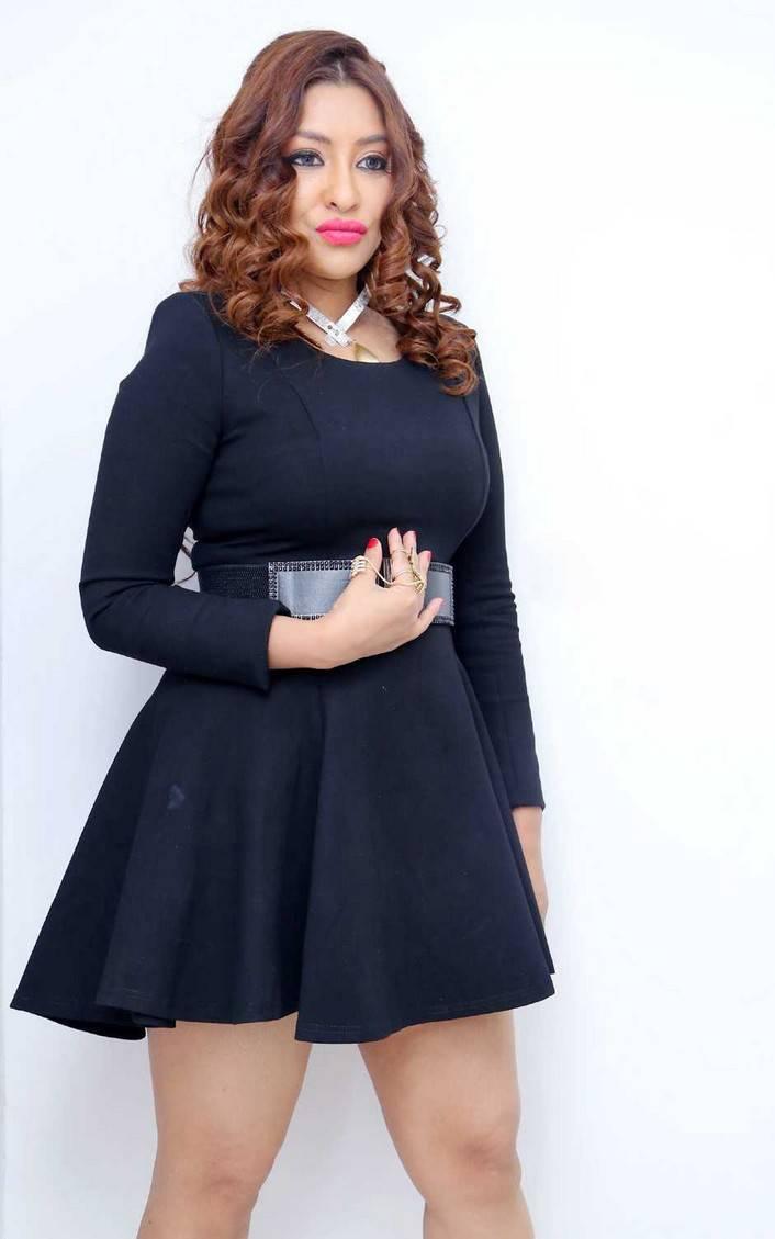 Telugu Actress Payal Ghosh in Black Dress