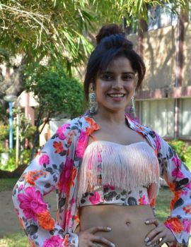 Tamil Actress Pia Bajpai Photos at Abhiyum Anuvum Movie Press Meet