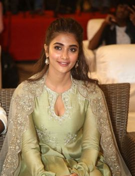 Pooja Hegde Stills at Gaddalakonda Ganesh Movie Success Meet