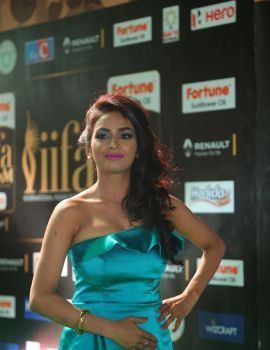 Telugu Actress Pooja Sree Stills at IIFA Utsavam 2017 in Hyderabad