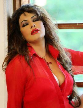 Actress Poonam Jhawer Stills in Red Dress