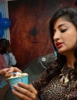 Poonam Kaur at CI-Gusta Ice Cream Parlour Launch