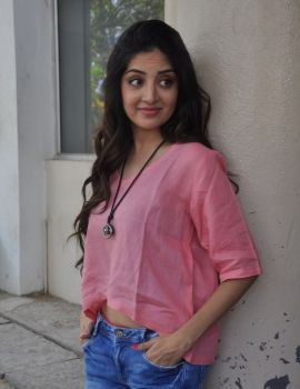 Poonam Kaur in Ripped Jeans at Attack Movie Audio Launch