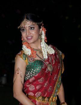 Poonam Kaur Saree Stills at Aadu Magaadra Bujji Logo Launch