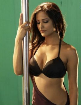 Poonam Pandey Bikini Pole Dance Photoshoot Stills