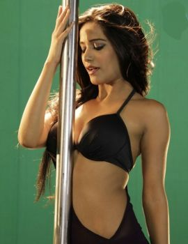 Poonam Pandey Bikini Pole Dance Photoshoot Stills