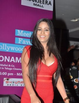 Poonam Pandey in Malini & Co Movie Promotions at Manjeera Mall