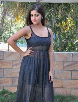 Telugu Actress Pragya Nayan Stills at Samaram Movie Press Meet