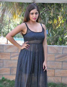 Telugu Actress Pragya Nayan Stills at Samaram Movie Press Meet