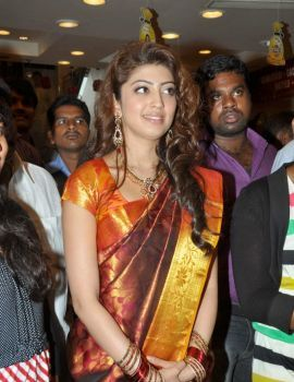 Pranitha in Bridal Saree at RS Brothers 10th Anniversary Celebrations