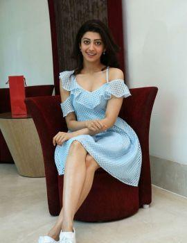 Pranitha Subhash Pics at Comio Smartphones Press Conference