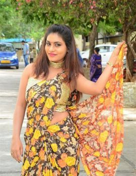 Telugu Actress Priya Augustin at National Silk Expo 2018 Launch
