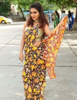 Telugu Actress Priya Augustin at National Silk Expo 2018 Launch