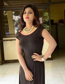 Telugu Actress Priyanka Stills at Runam Movie Press Meet
