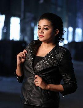 Priyamani Photos in Black Leather Jacket at Sirivennela Movie Shooting Spot