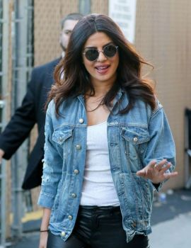 Bollywood Actress Priyanka Chopra Leaves Jimmy Kimmel Live in Hollywood