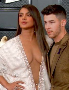Priyanka Chopra and Nick Jonas at Grammys 2020 Red Carpet