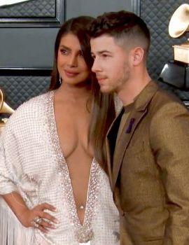 Priyanka Chopra and Nick Jonas at Grammys 2020 Red Carpet