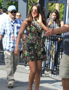 Priyanka Chopra at Extra Studios in Hollywood