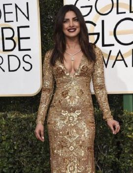 Priyanka Chopra at Golden Globes 2017 Red Carpet