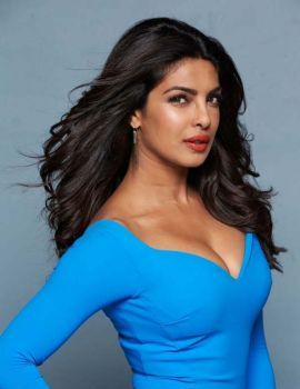 Priyanka Chopra Latest Photoshoot in Blue Dress