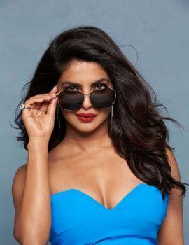Priyanka Chopra Latest Photoshoot in Blue Dress