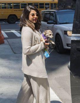 Priyanka Chopra Stills Leaves Hotel in New York City