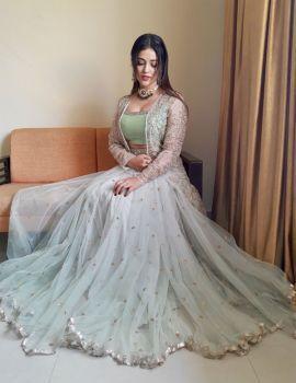 Priyanka Jawalkar Photos in Ethnic Wear for The Inauguration of Pantaloons Store